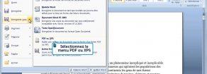 Comment enregistrer un document en pdf ?
